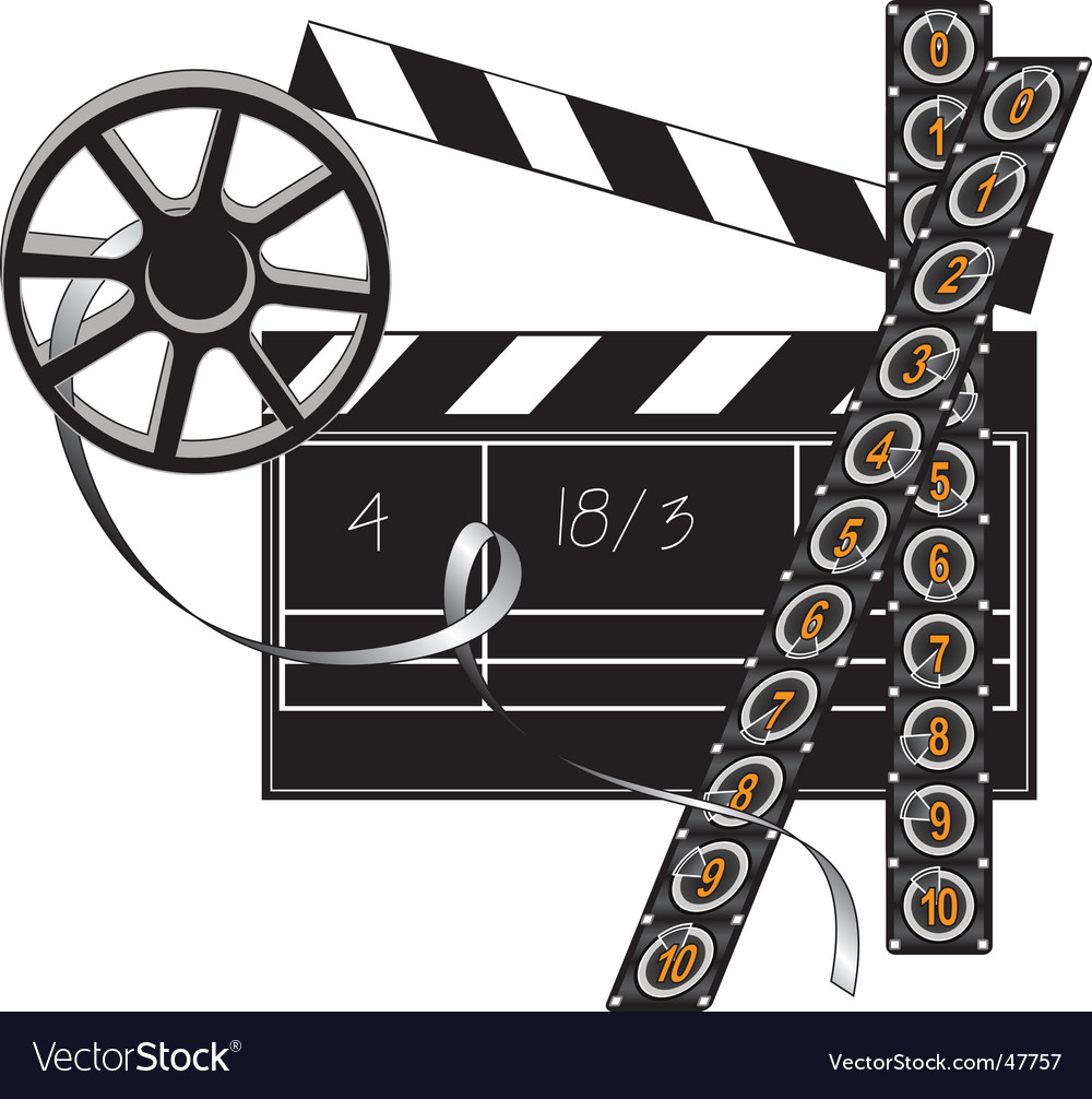 Filmmaker set vector | Price: 1 Credit (USD $1)