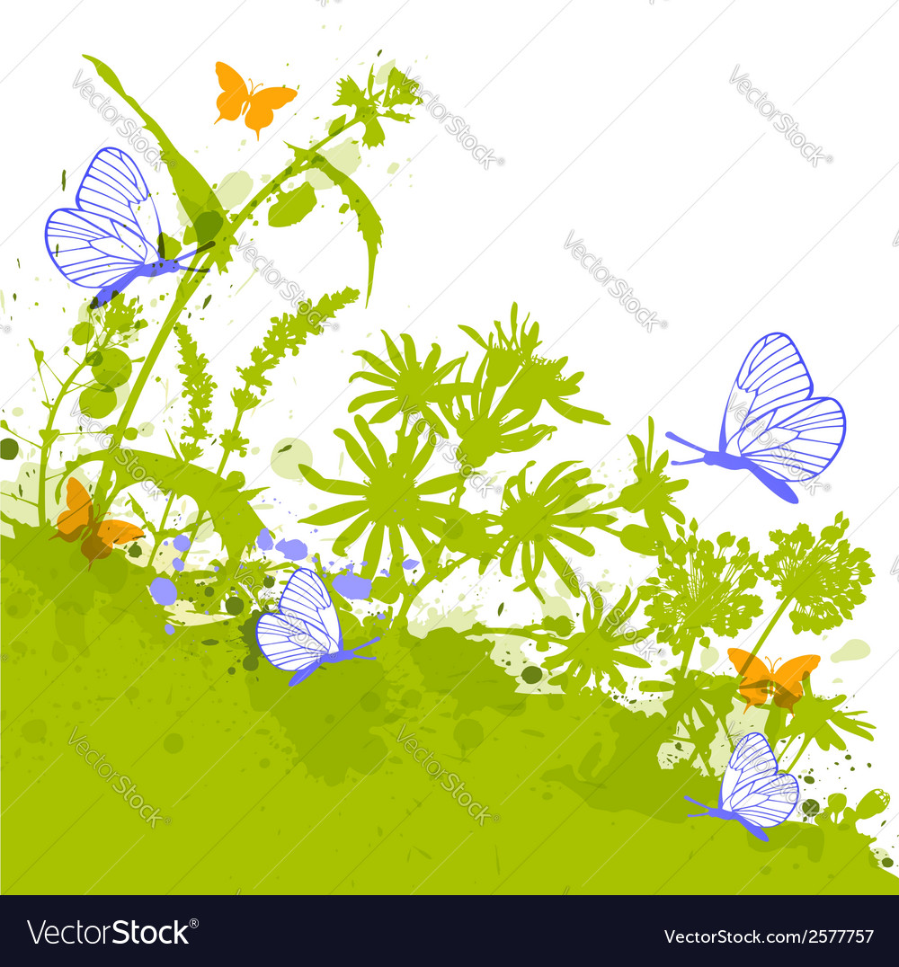 Green decorative floral background vector | Price: 1 Credit (USD $1)