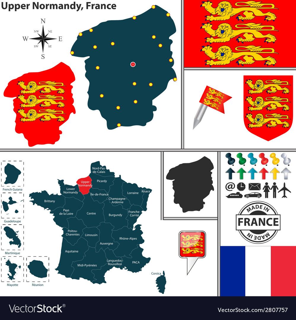 Map of upper normandy vector | Price: 1 Credit (USD $1)