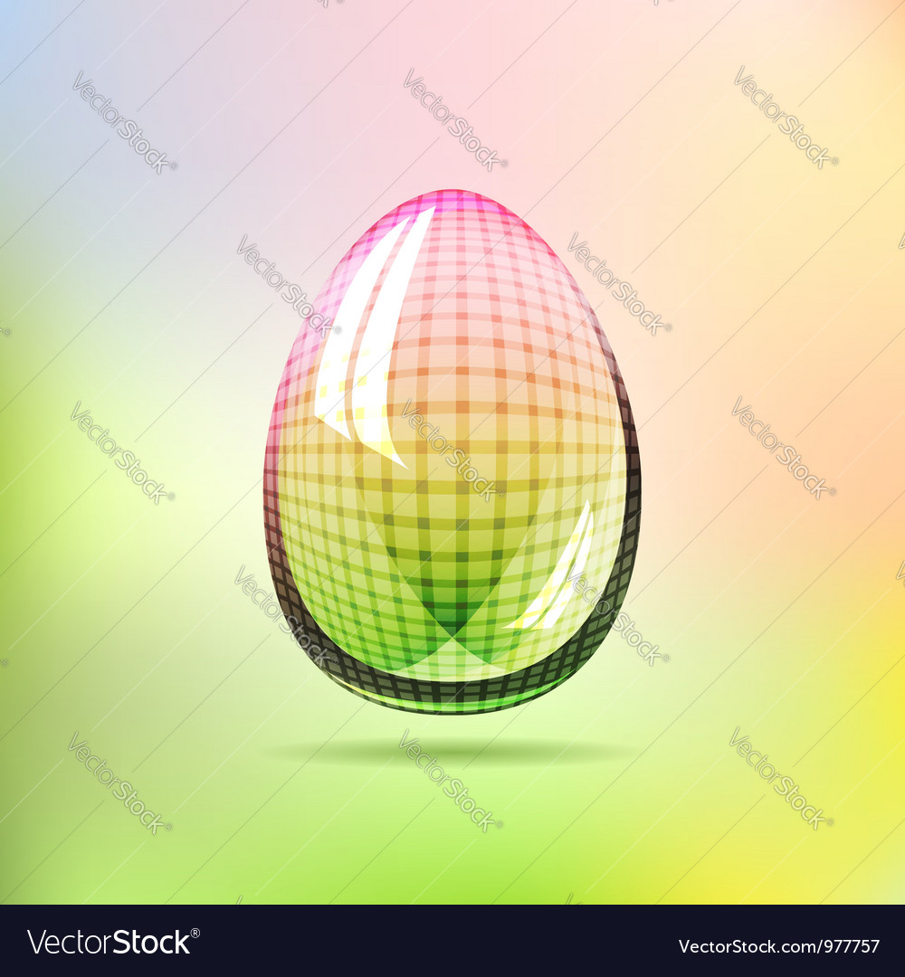 Rainbow glossy checkered egg vector | Price:  Credit (USD $)