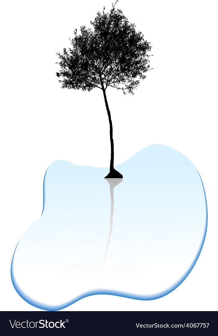 Tree silhouette vector | Price: 1 Credit (USD $1)