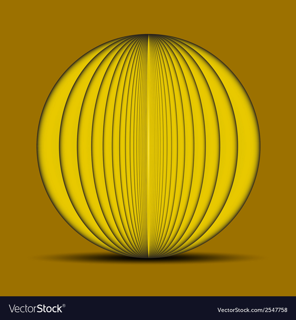 Abstract oval yellow background with shadow on the vector | Price: 1 Credit (USD $1)