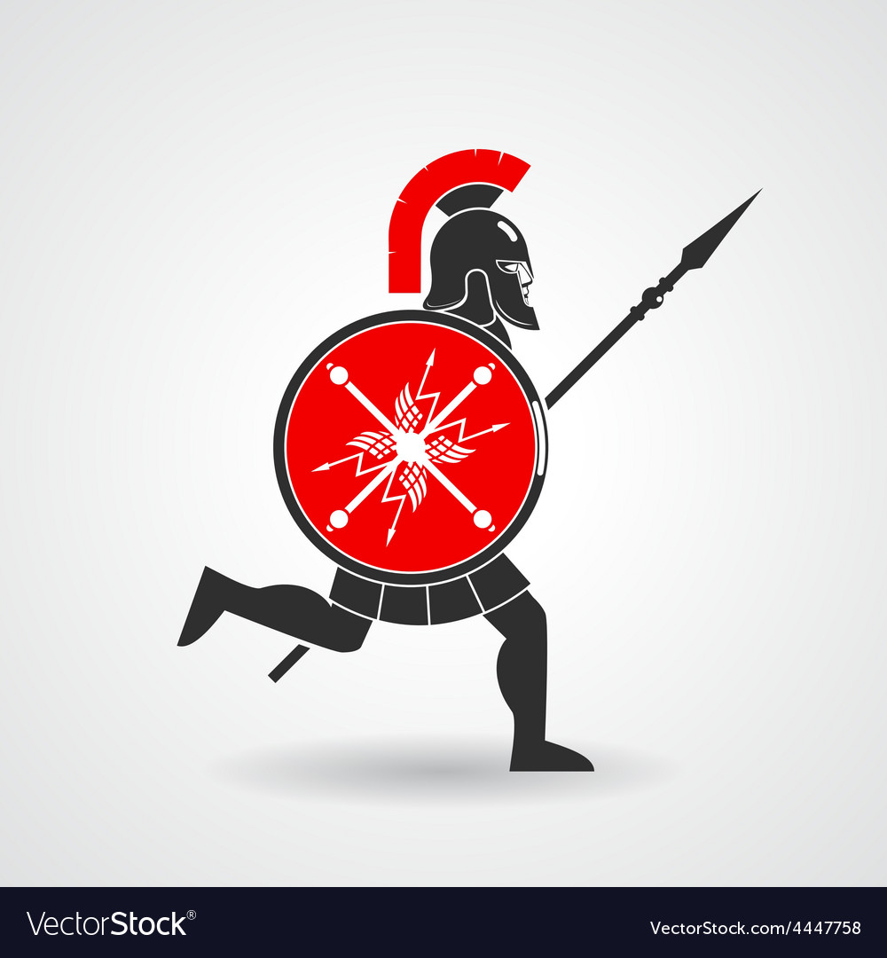Ancient legionnaire warrior icon vector | Price: 1 Credit (USD $1)