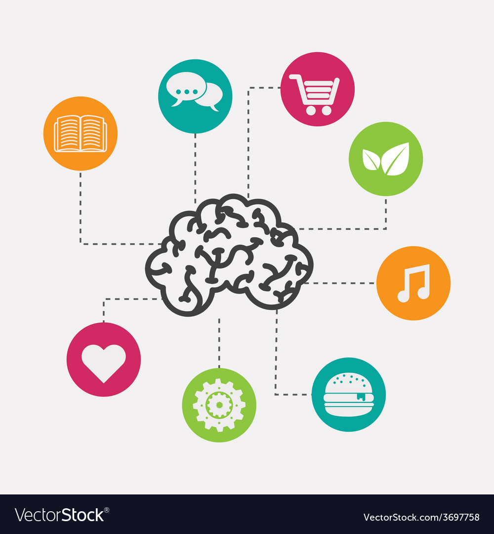 Brain icon design vector | Price: 1 Credit (USD $1)