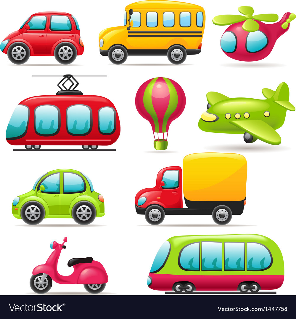 Cartoon transport set vector | Price: 3 Credit (USD $3)