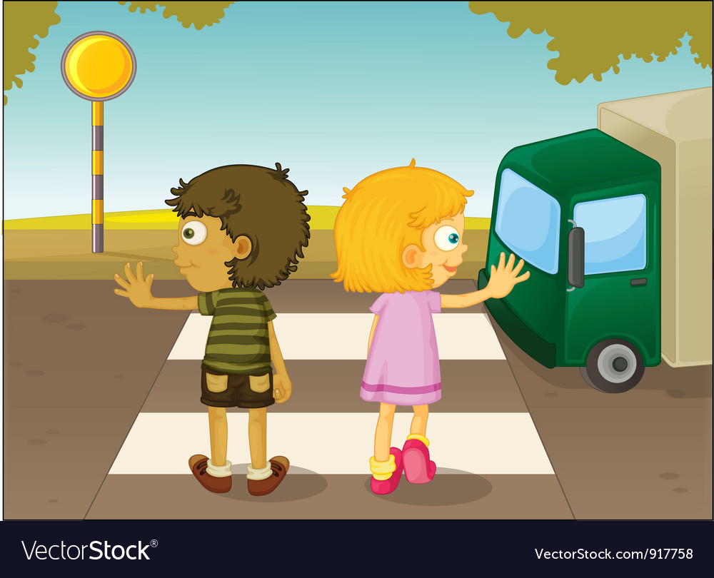 Crossing the street vector | Price: 3 Credit (USD $3)