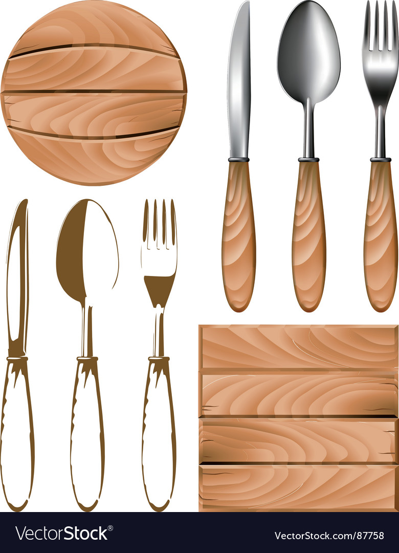 Cutlery tree vector | Price: 1 Credit (USD $1)