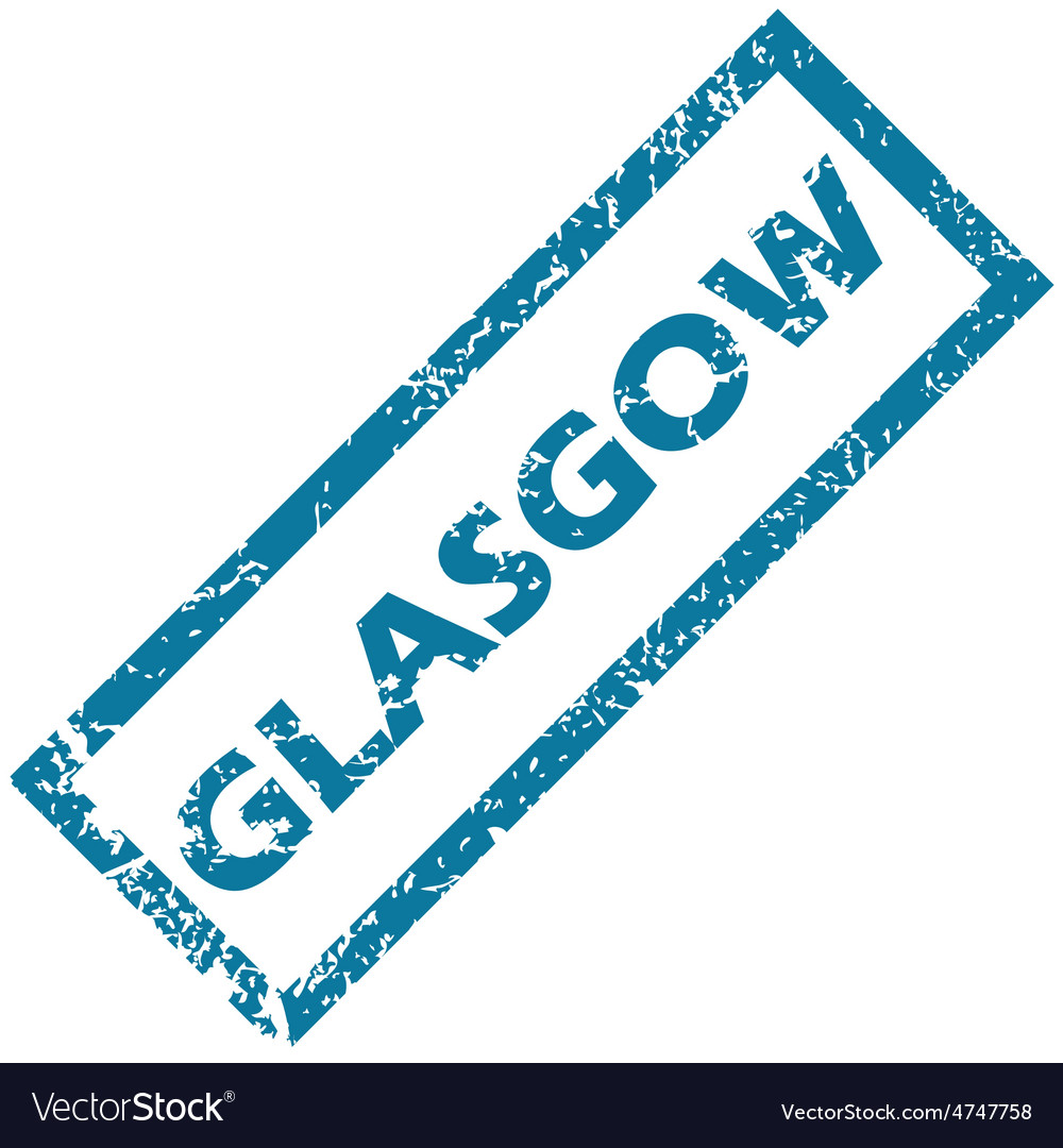Glasgow rubber stamp vector | Price: 1 Credit (USD $1)