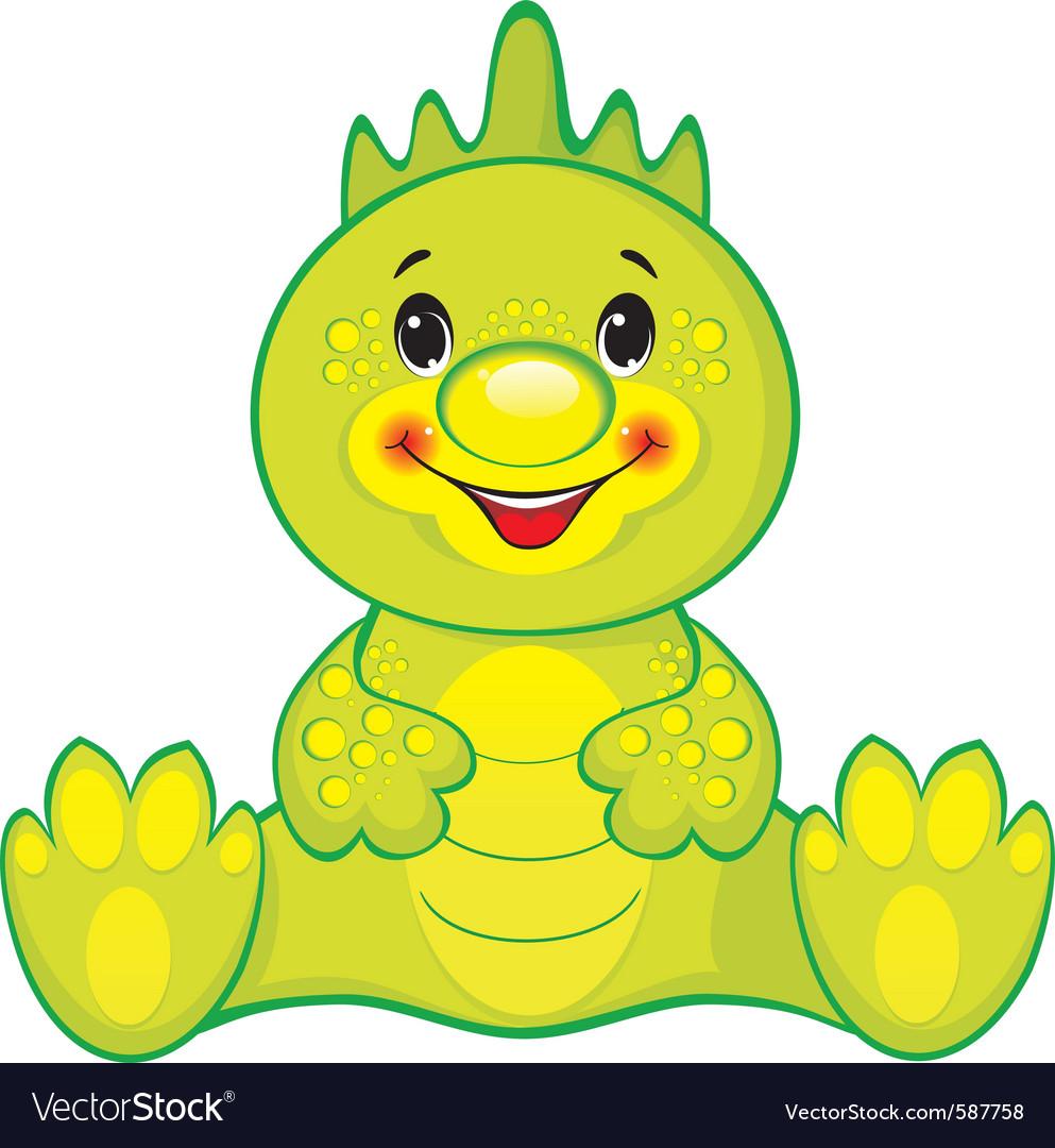 Green dragon vector | Price: 3 Credit (USD $3)