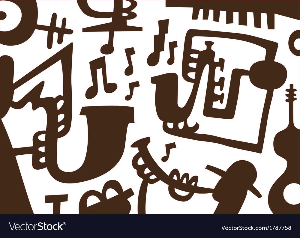 Jazz musicians -doodles vector | Price: 1 Credit (USD $1)