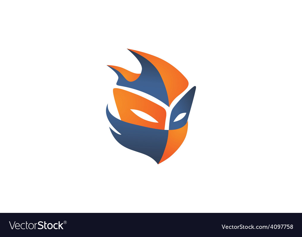 Mask helloween face game logo vector | Price: 1 Credit (USD $1)