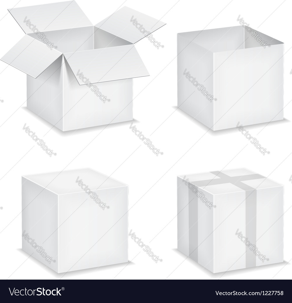 Paper boxes vector | Price: 1 Credit (USD $1)