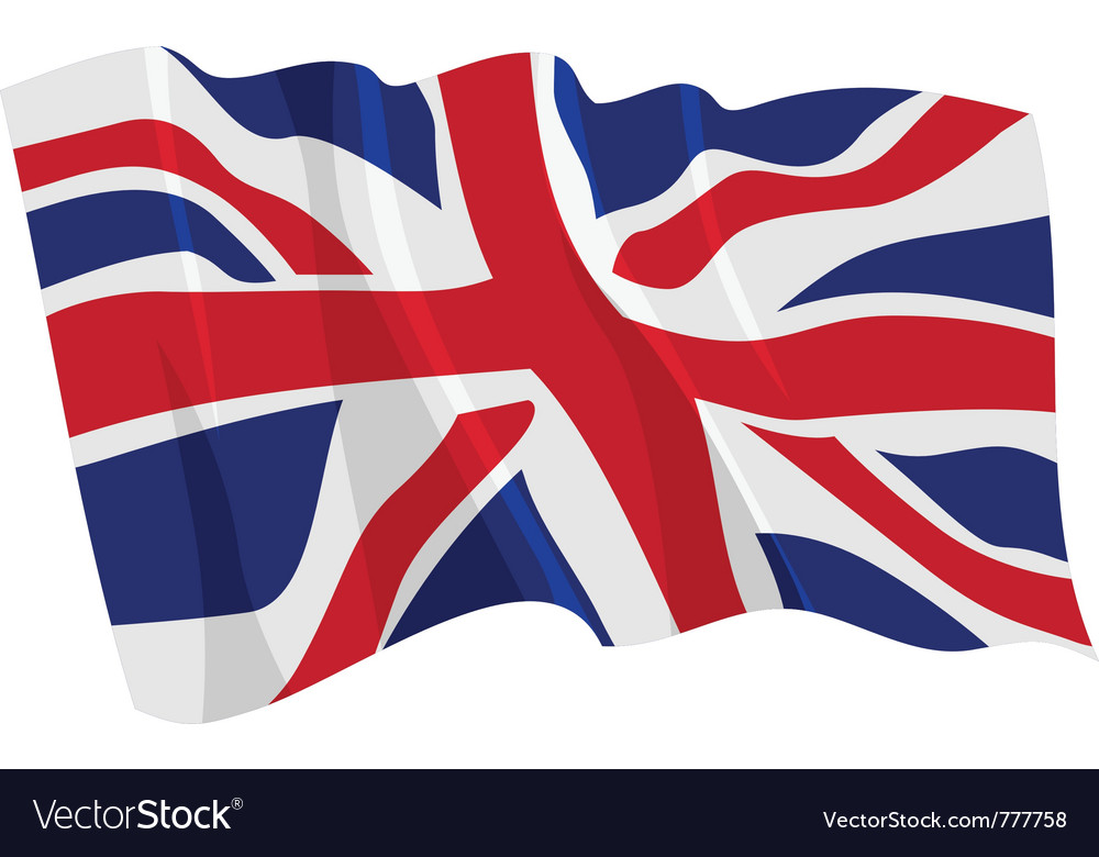 Political waving flag of united kingdom vector | Price: 1 Credit (USD $1)