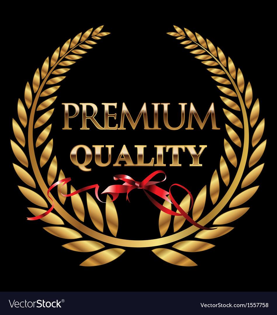Premium quality golden laurel wreath vector | Price: 1 Credit (USD $1)
