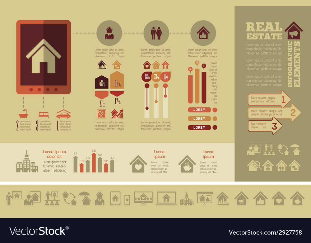 Real estate infographics vector | Price: 1 Credit (USD $1)