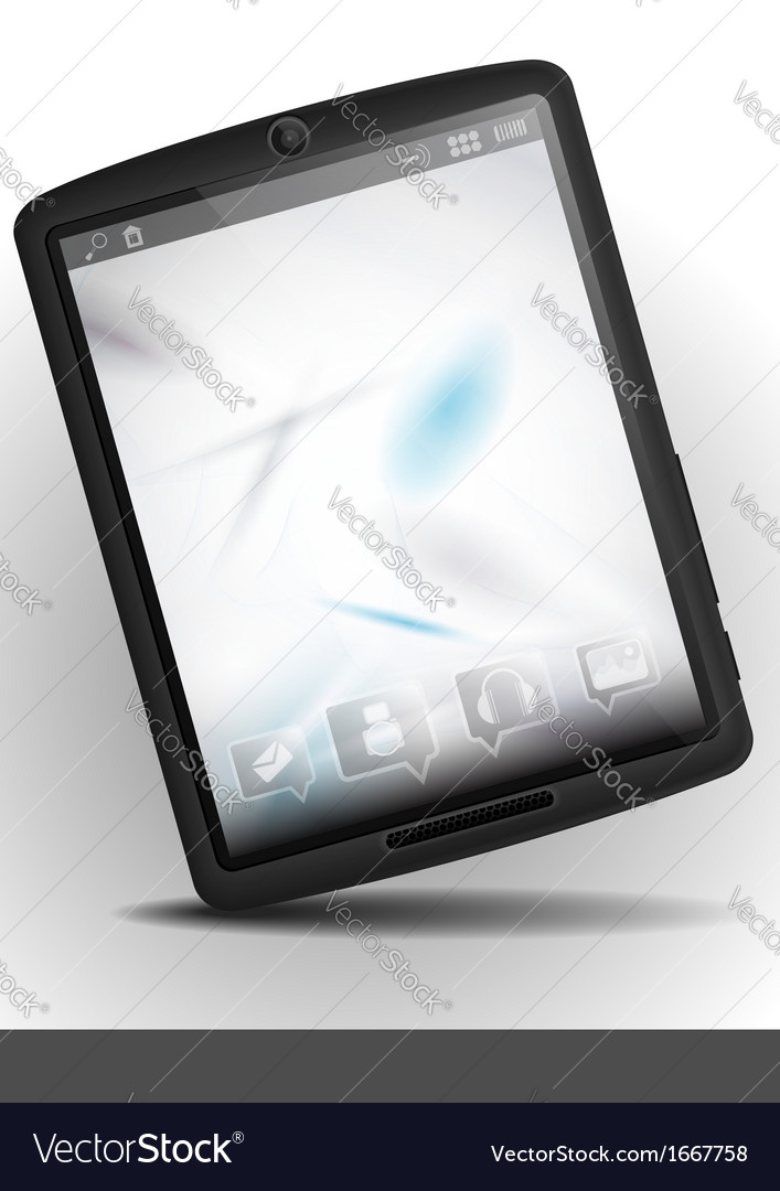 Tablet pc with abstract smoke background vector | Price: 1 Credit (USD $1)