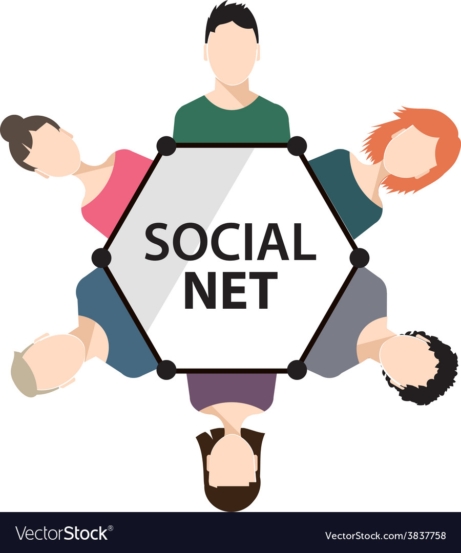 Teamwork social net people group vector | Price: 1 Credit (USD $1)