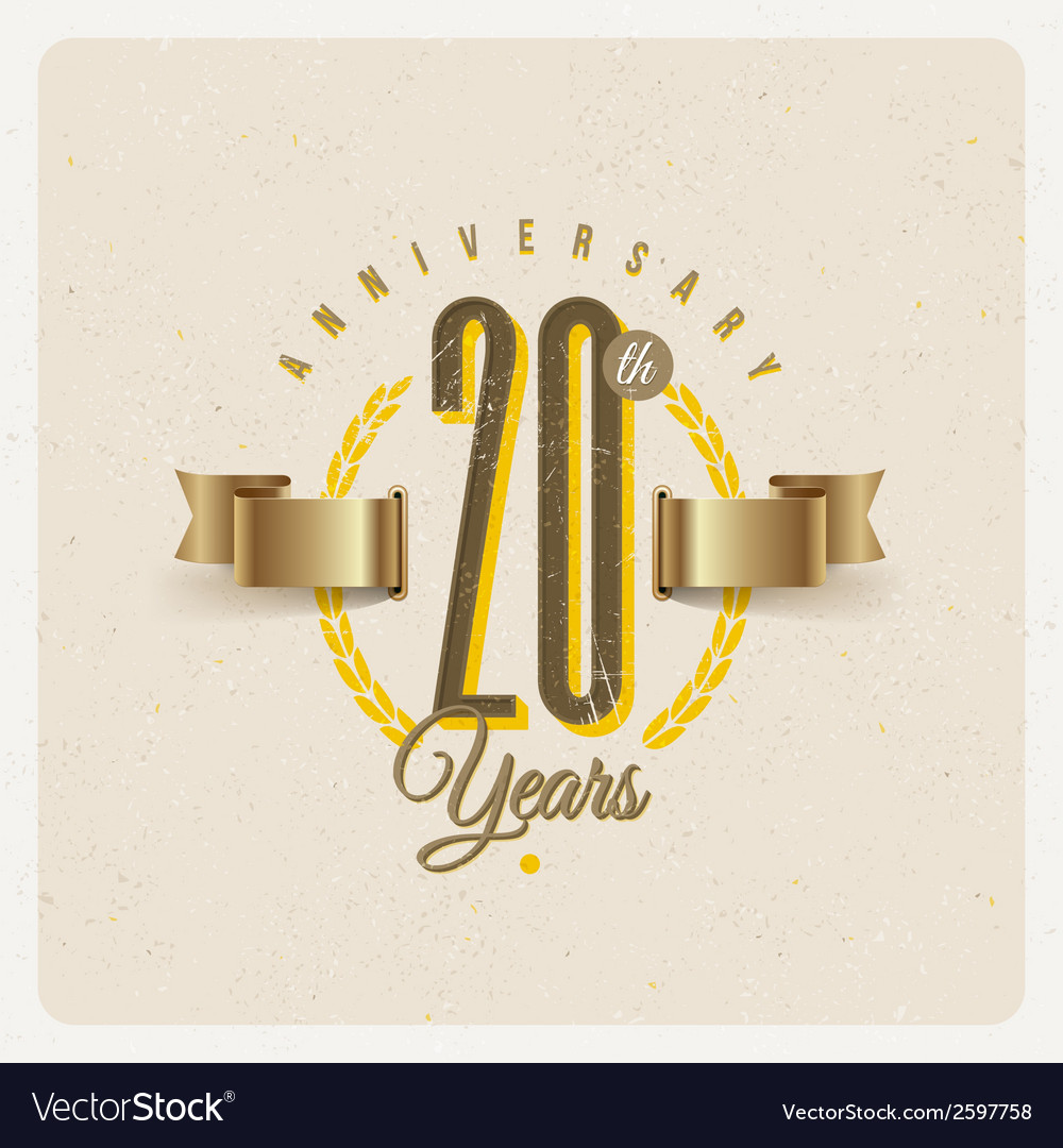 Vintage anniversary type emblem vector | Price: 1 Credit (USD $1)