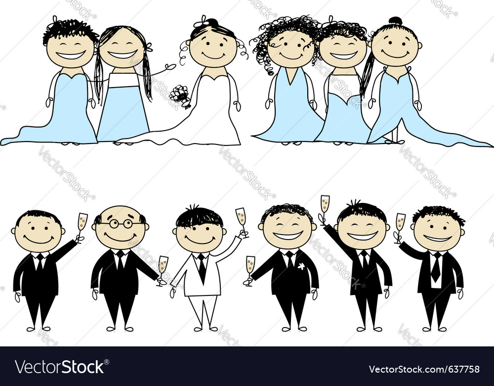 Wedding party vector | Price: 1 Credit (USD $1)