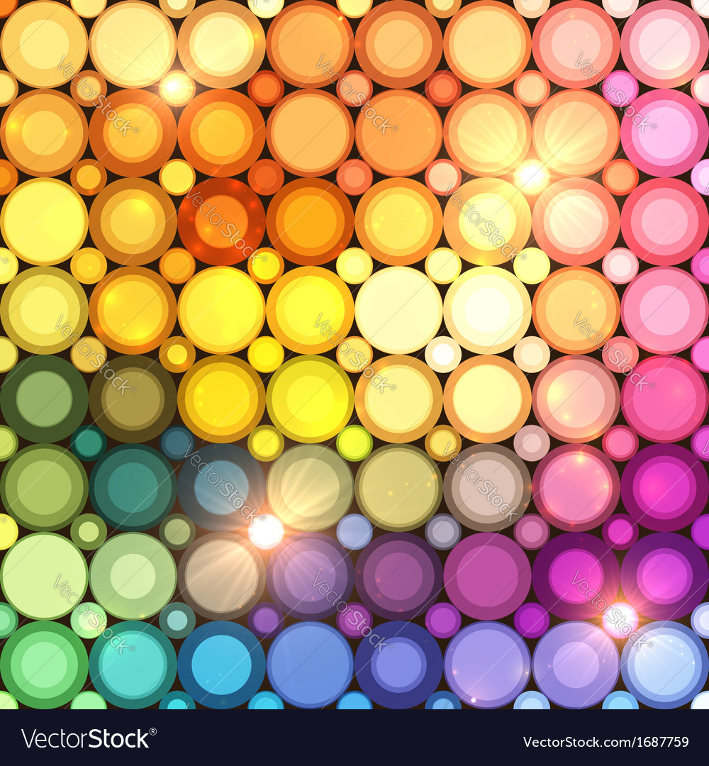 Colorful disco circles abstract background vector | Price: 1 Credit (USD $1)