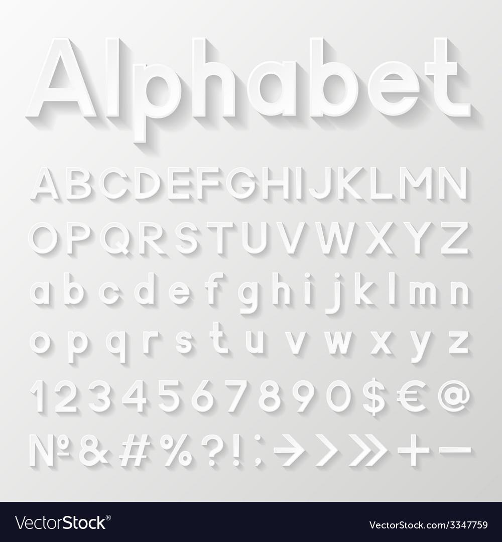 Decorative paper alphabet vector | Price: 1 Credit (USD $1)