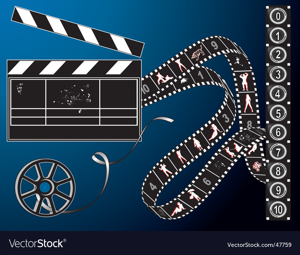 Filmmaker elements vector | Price: 1 Credit (USD $1)