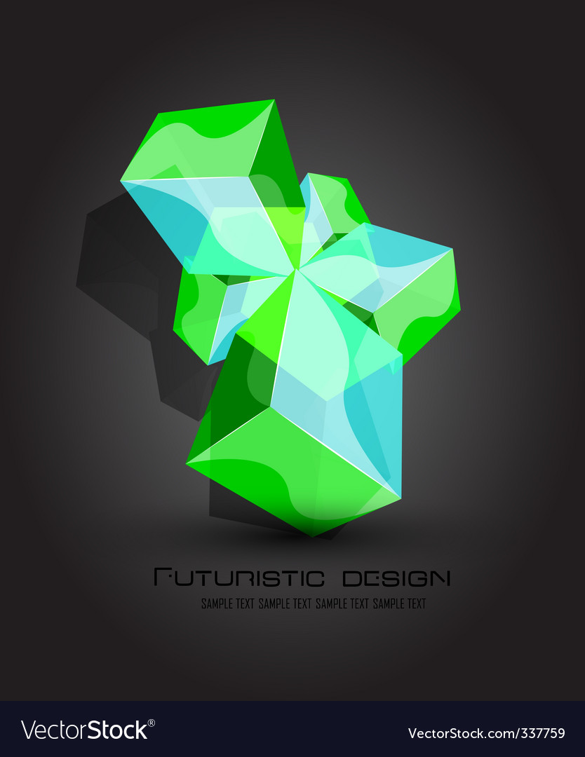Futuristic dimensional boxes vector | Price: 1 Credit (USD $1)