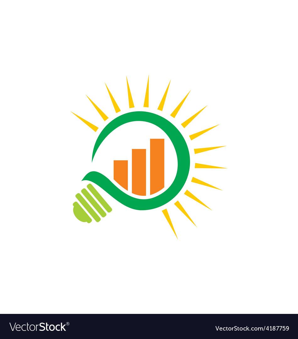 Green light bulb business finance logo vector | Price: 1 Credit (USD $1)