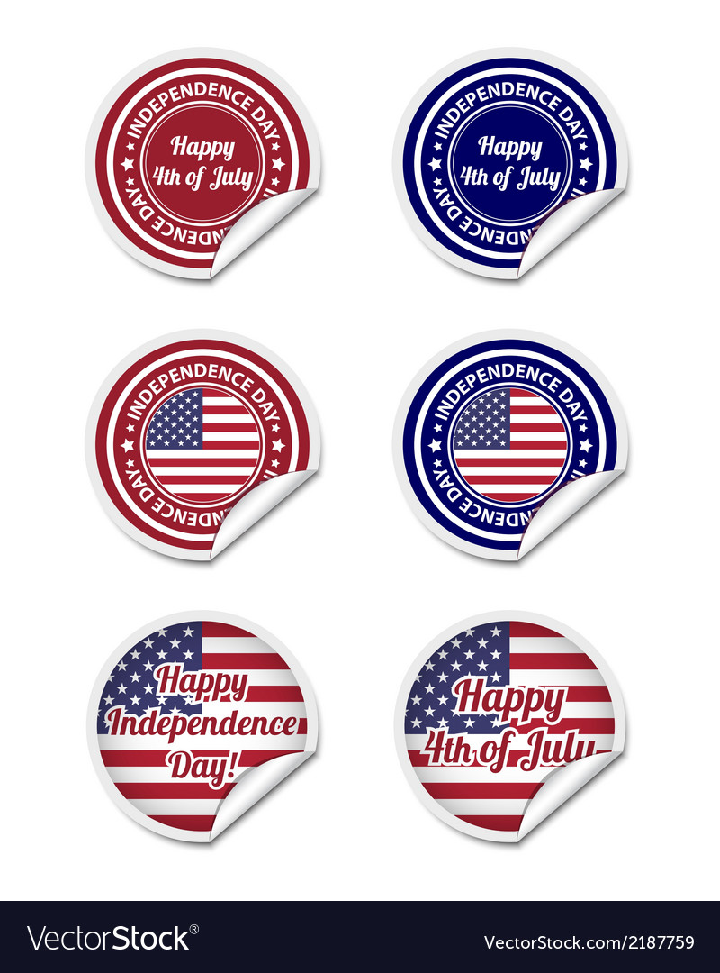 Independence day stickers vector | Price: 1 Credit (USD $1)