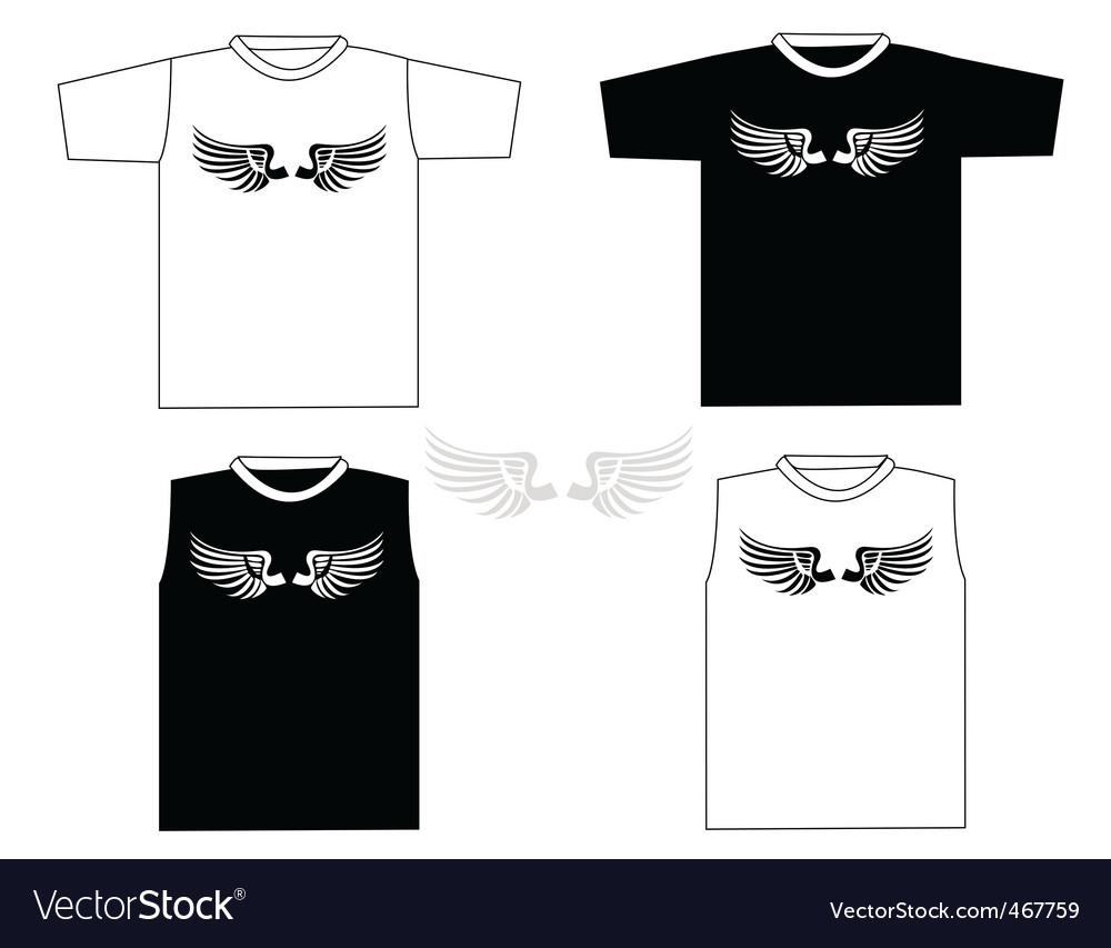 Rocker t-shirts vector | Price: 1 Credit (USD $1)
