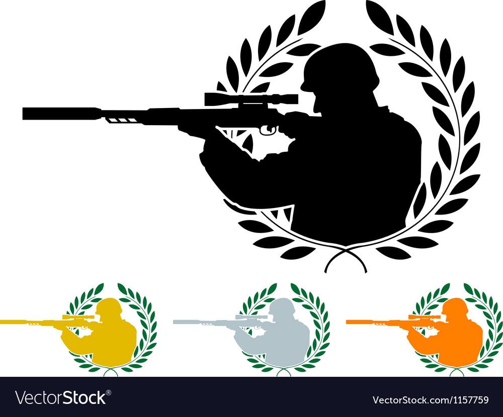Stencil of sniper vector | Price: 1 Credit (USD $1)
