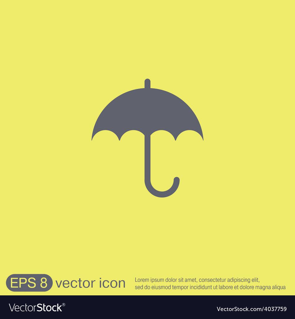 Umbrella icon protection from rain and moisture vector | Price: 1 Credit (USD $1)