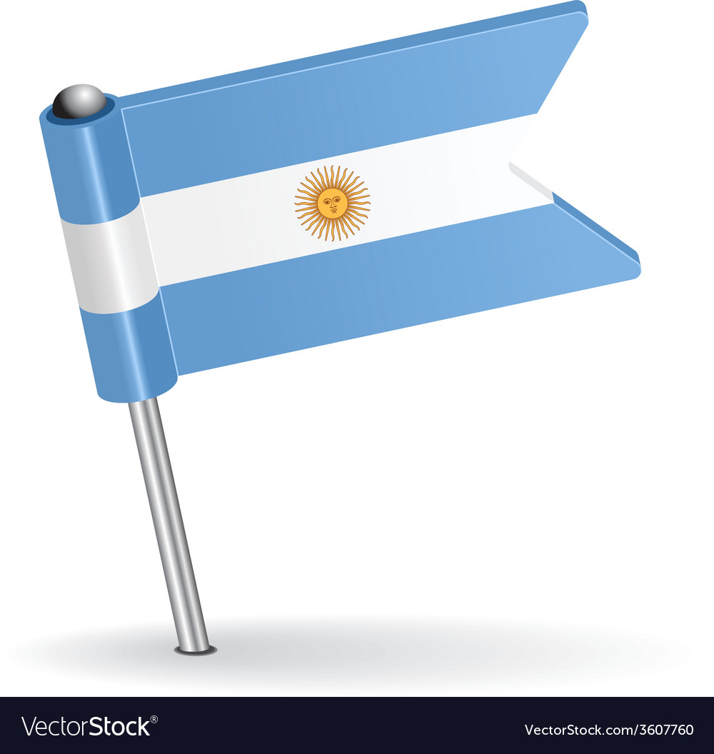 Argentine pin icon flag vector | Price: 1 Credit (USD $1)