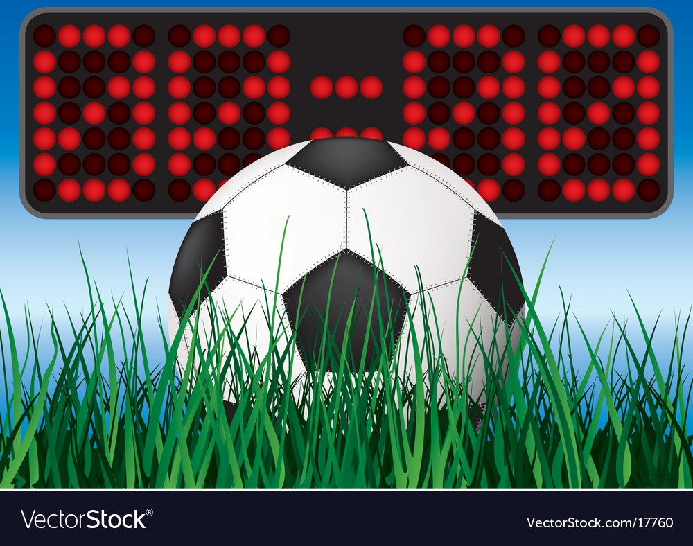 Beginning soccer game vector | Price: 3 Credit (USD $3)