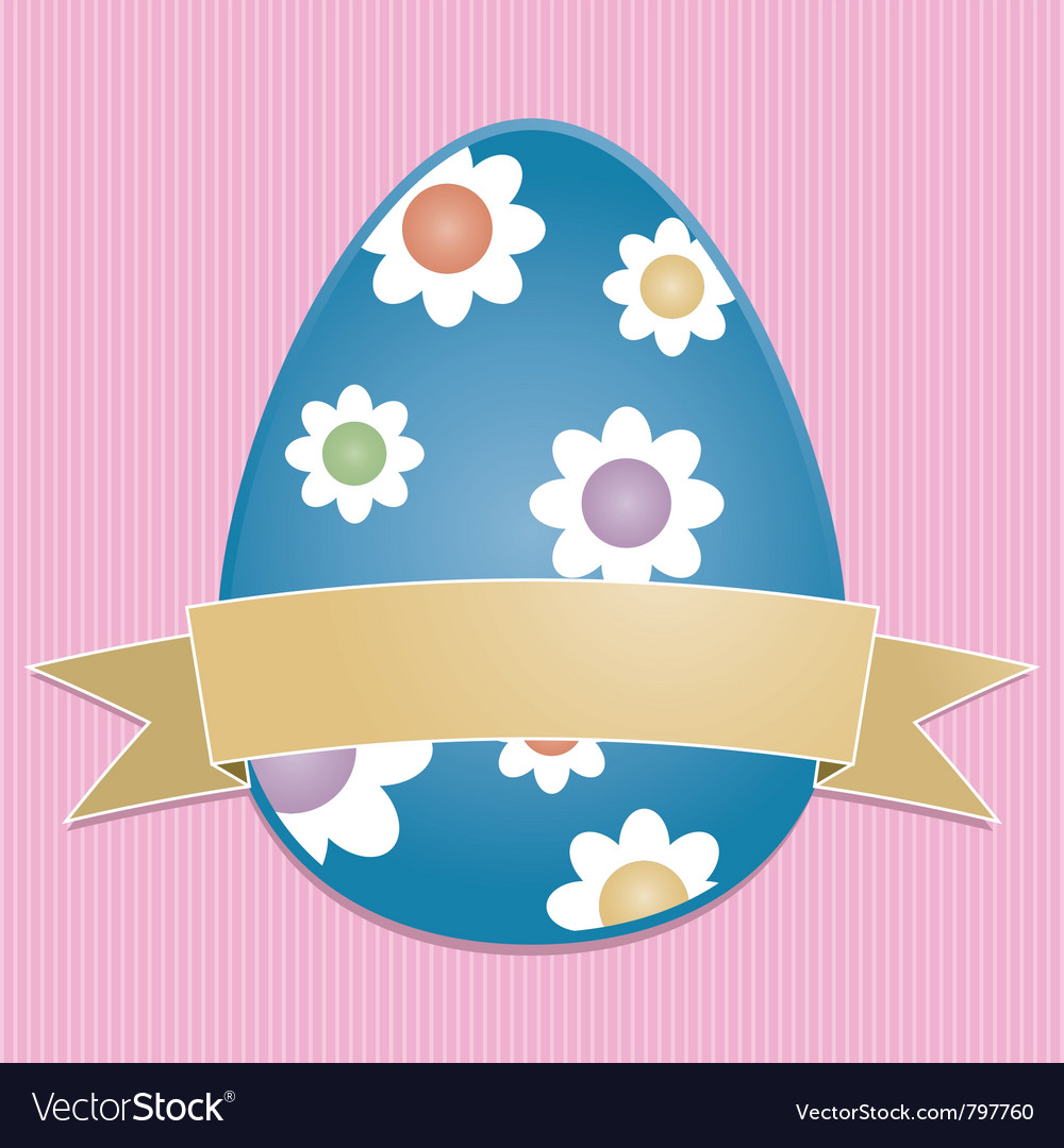 Easter egg card vector | Price: 1 Credit (USD $1)