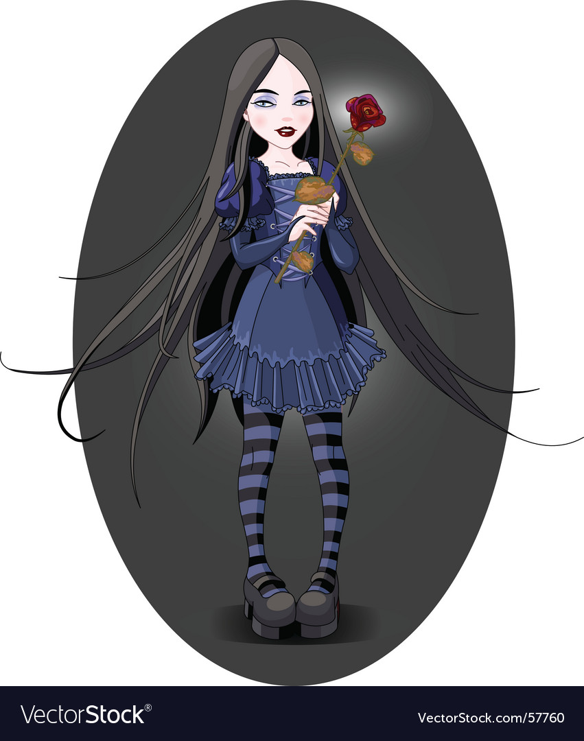 Goth girl vector | Price: 3 Credit (USD $3)