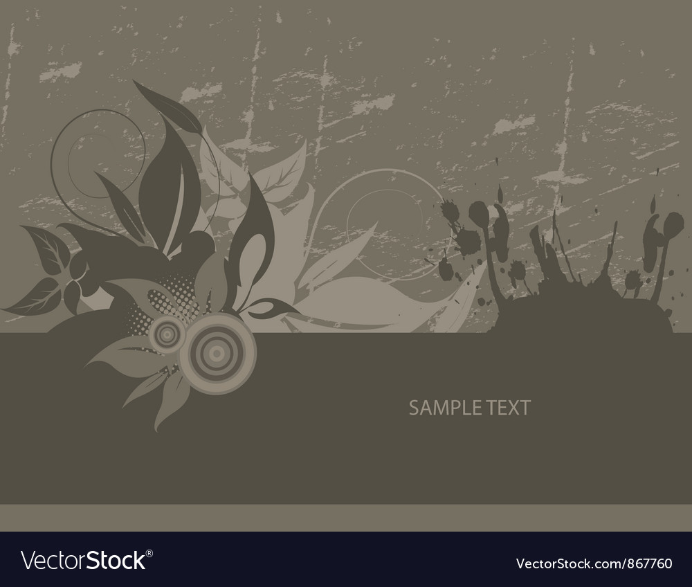 Grunge wallpaper with floral vector | Price: 1 Credit (USD $1)