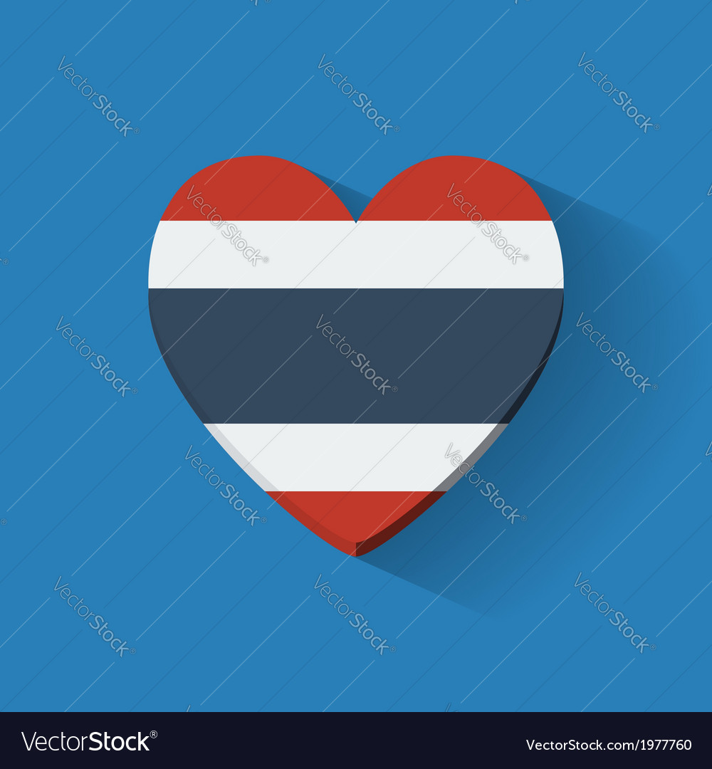 Heart-shaped icon with flag of thailand vector | Price: 1 Credit (USD $1)