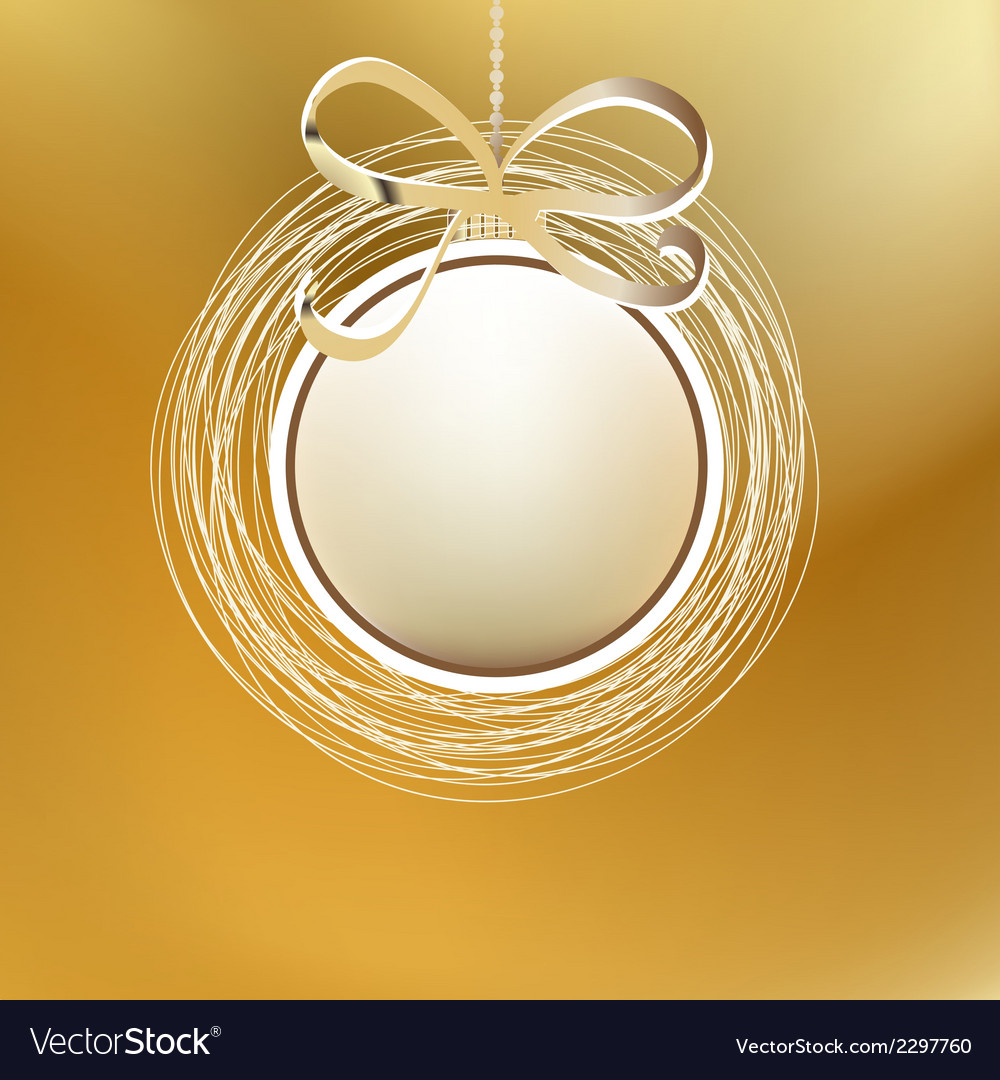 Merry christmas gold card  eps8 vector | Price: 1 Credit (USD $1)
