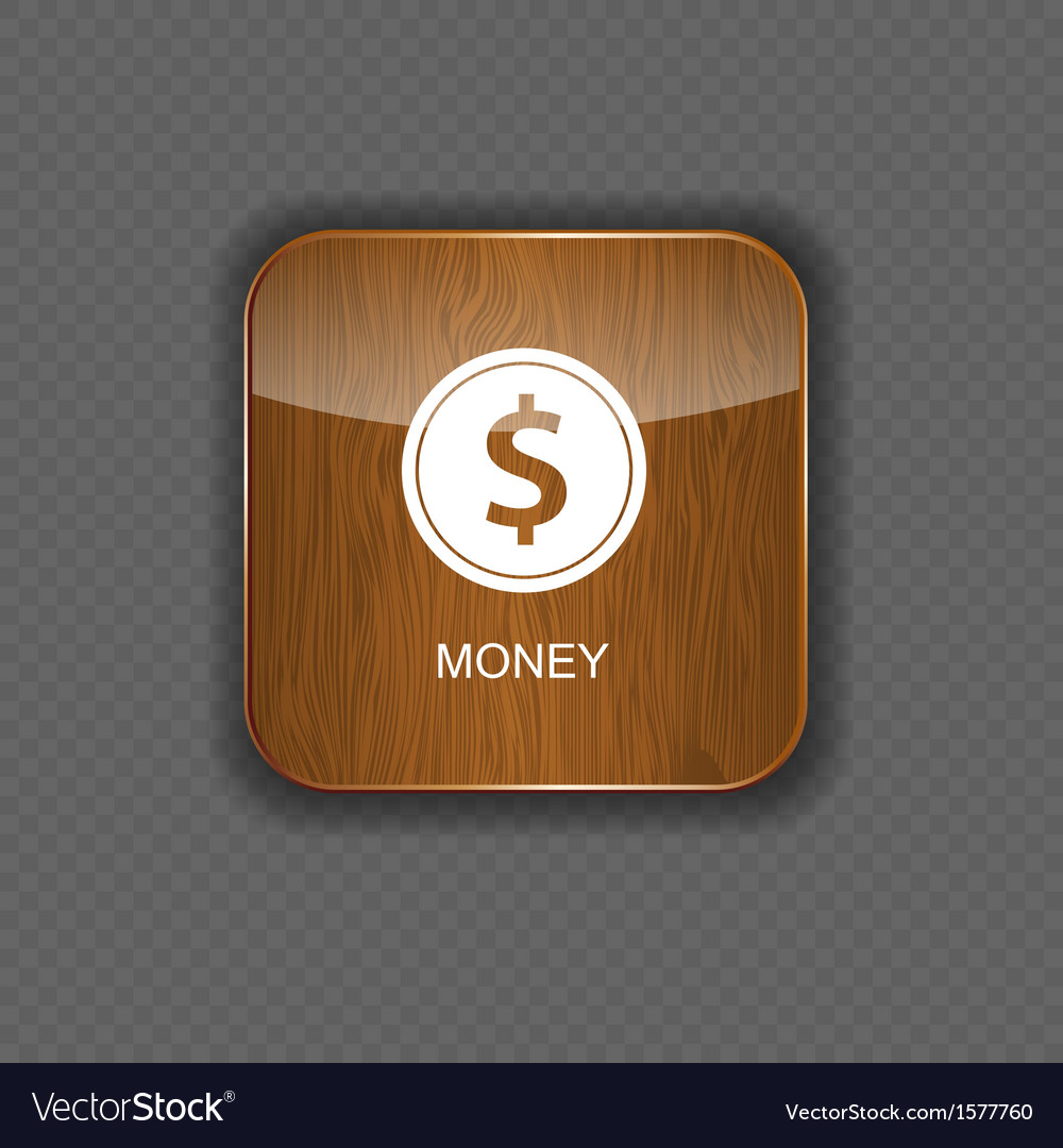 Money wood application icons vector | Price: 1 Credit (USD $1)