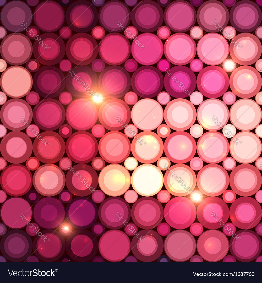 Pink disco circles abstract background vector | Price: 1 Credit (USD $1)