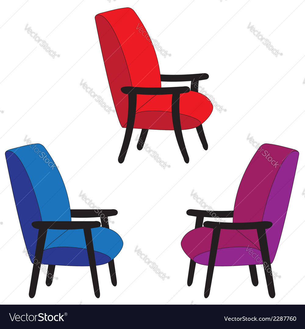 Set of recliners vector | Price: 1 Credit (USD $1)