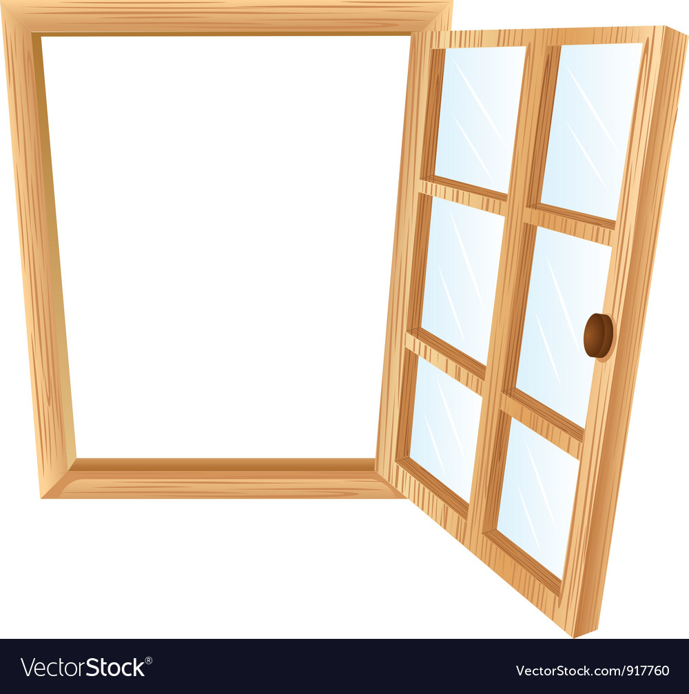 Single window frame vector | Price: 1 Credit (USD $1)