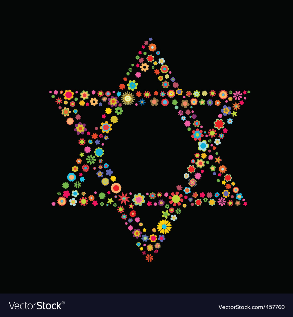 Star of david shape vector | Price: 1 Credit (USD $1)