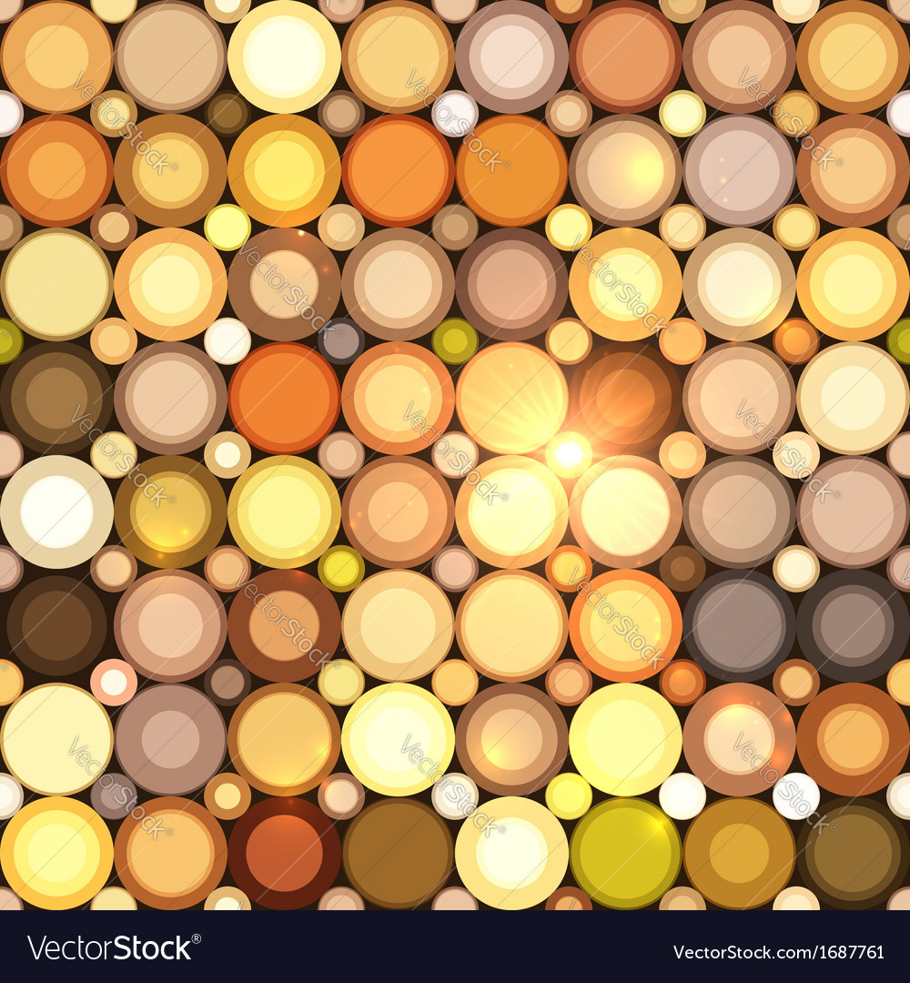 Abstract disco circles seamless pattern vector | Price: 1 Credit (USD $1)