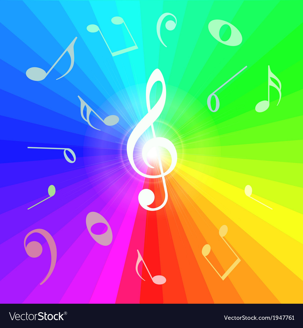 Abstract music notes background vector | Price: 1 Credit (USD $1)