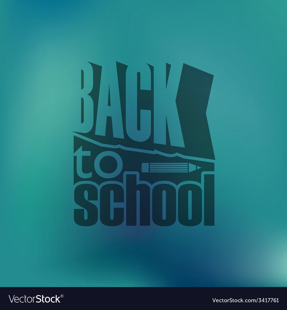 Back to school retro design vector | Price: 1 Credit (USD $1)