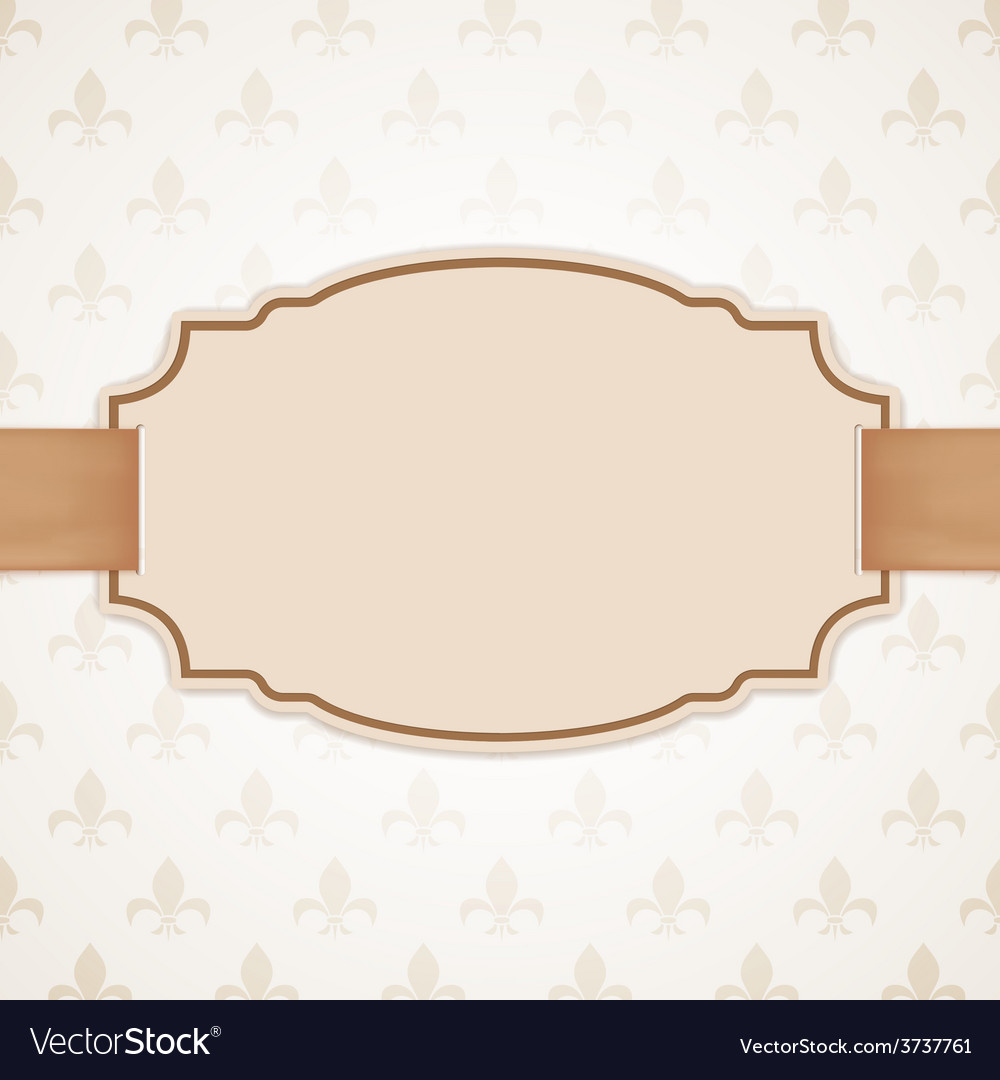 Blank banner with golden ribbon vector | Price: 1 Credit (USD $1)
