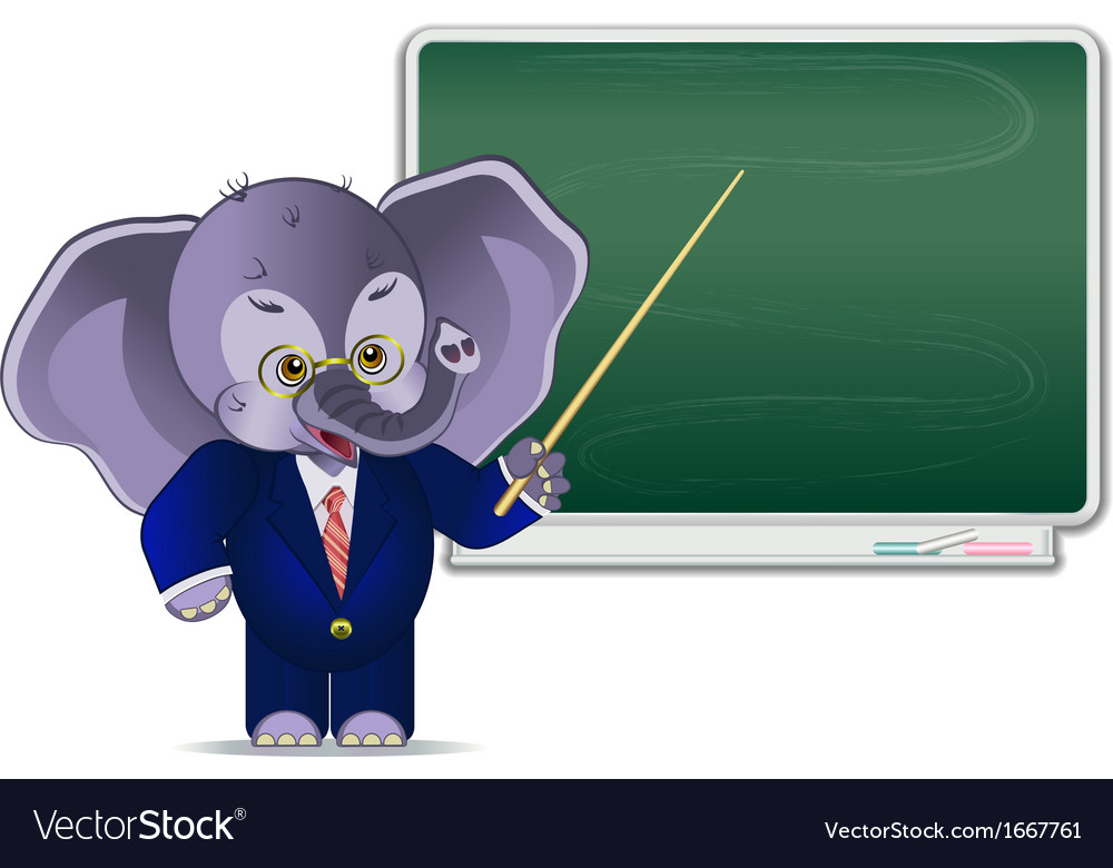 Businessman elephant vector | Price: 1 Credit (USD $1)