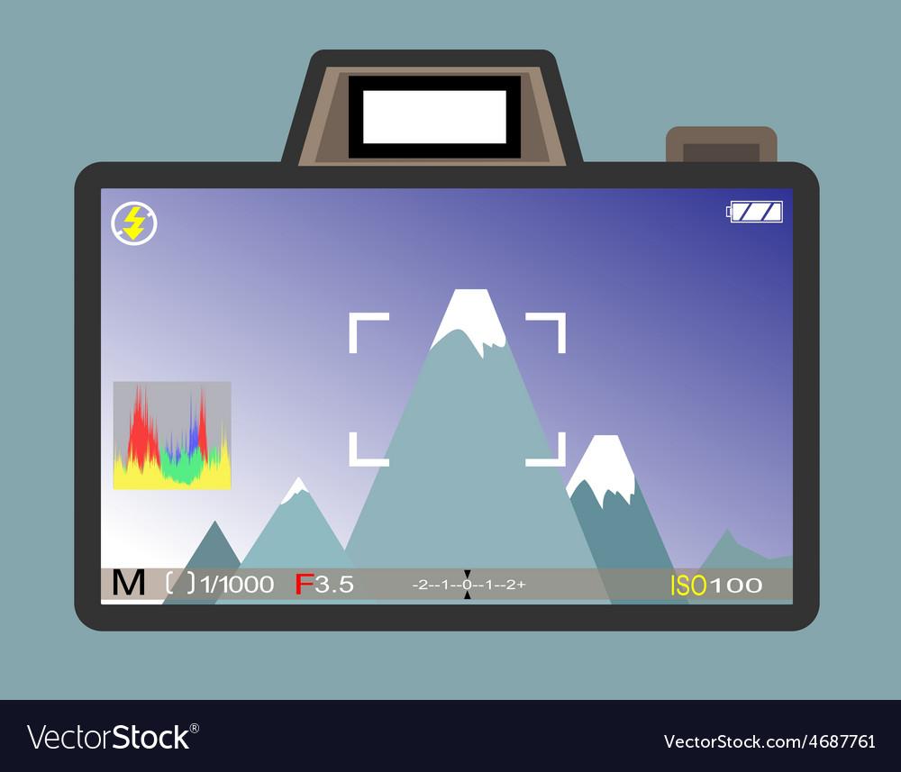 Camera view vector | Price: 1 Credit (USD $1)